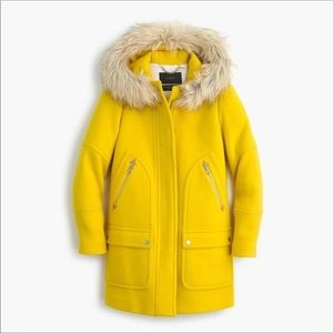 Gorgeous Yellow J Crew Stadium Cloth Chateau Parka
